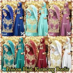 gamis Princess Hijab Kerancang Bordir