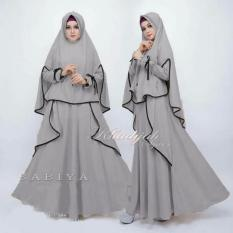 Gamis Sabiya Khadijah Syar'i Grey