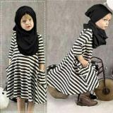 Harga Uc Gamis Salur Anak Dress Hijab Kaos Blouse Wanita Muslimah 3 5 Tahun Termasuk Pasminah Ripst Jabhi D3C Origin