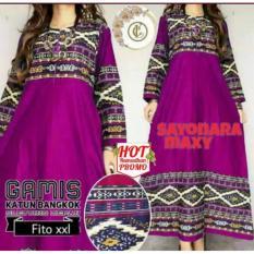 Gamis Sayonara Maxi XXL Katun Bangkok Kualitas Premium - Gaun Pesta - Shopping Dress - Belanja Baju Online - Toko Baju Online - Grosir Baju Muslim