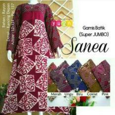 Gamis Super Jumbo Sanea ~ Daster L Dress Murahl Batik Murah L Baju Murah Wanita L Katun Jepang