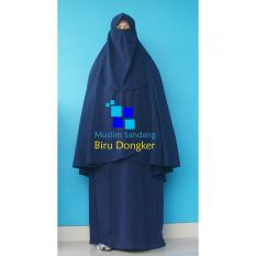 Jual Gamis Syar I Ayuk Collection Biru Dongker Branded Original