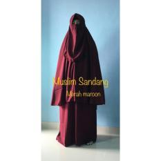 Spesifikasi Gamis Syar I Ayuk Collection Merah Maroon Size S Murah