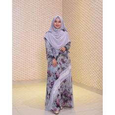Gamis Syar'i / Gamis Sifon Kembang / Baju Muslim