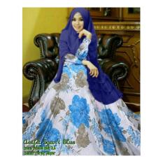 Harga Gamis Syari Asyifa Blue Branded