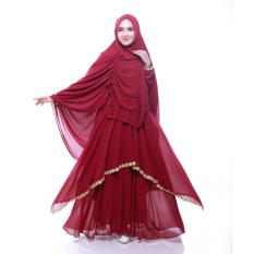 Spesifikasi Gamis Syar I Cantik Marun Spesial Lebaran Yg Baik
