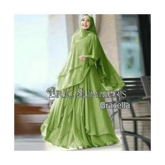 Perbandingan Harga Aju Pakaian Wanita Muslim Murah Gamis Syari Ceruty Polos Gracella Busui By Nurul Collection Universal Di Indonesia
