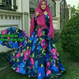 Review Gamis Syar I Maxmara Kirana Navy Fanta Wikie Fashion 99