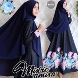 Model Gamis Syari Misbie Amira Black Terbaru