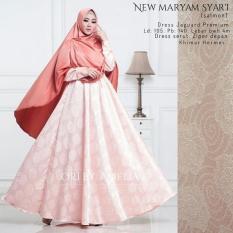 Gamis Syari Modern Setelan Baju Pesta Wanita Muslim Mewah NEW MARYAM Terlaris