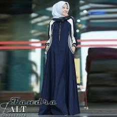 Harga Gamis Syari Murah Franda Dress Navy Gamis Muslim Baju Murah Murah Wanita Grosir Long Dress New