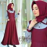 Promo Gamis Syari Murah Syafa Dress Maroon Gamis Muslim Baju Muslim Baju Murah Murah Wanita Murah