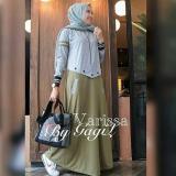 Diskon Gamis Syari Murah Varissa Dress Hijau Gamis Baru Baju Muslim Baju Murah Long Dress Grosir Multi