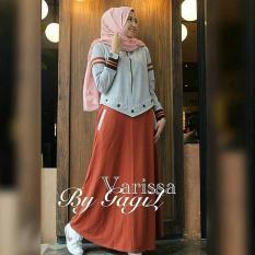 Spesifikasi Gamis Syari Murah Varissa Dress Orange Baju Muslim Baju Murah Gamis Baru Gamis Muslim Baru