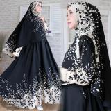 Promo Gamis Syari Muslim Gamis Jumbo Fit Xxl Wanita Busui Dress Muslimah Atasan Monalisa Ranada