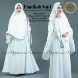 Spesifikasi Gamis Syari Muslim Wanita Khimar Polos White Syari Busui Putih Yang Bagus