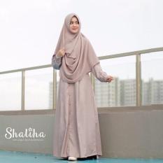 Gamis Syari New Zainab Mauve Brand Shaliha Hijab