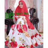 Beli Gamis Syar I Rosalia White Red Nyicil