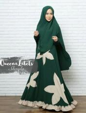 Gamis Syari Shayla Hijau Original by QueenaLabels READY