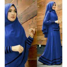 Rp 179.700 TotallyGreatShop Gamis Syari Pesta Busui Jersey Premium + Hijab Bergo / Kondangan Muslimah / Fashion ...
