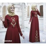 Diskon Lf Dress Gamis Terusan Maxi Ravina Syari Syar I Simple Elegant Baju Muslim Wanita Kebaya Muslimah Modern Venara Ss Maroon D2C Akhir Tahun