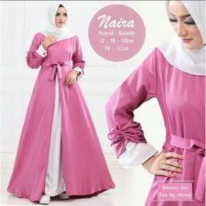 Gamis Wanita Naira Pink