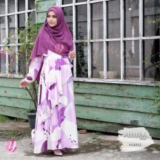 Gamis Yasmeera Allura Dress Purple - Baju Muslim Wanita Baju Muslimah