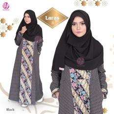 Gamis Yasmeera Laras Dress B Black - Baju Muslim Wanita Baju Muslimah
