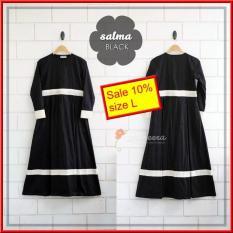 Gamis Yasmeera Salma Series Black - Baju Gamis Wanita Busana Muslim