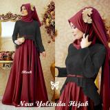 Harga Gamis Yolanda Hijab Maxi Black Anami Style