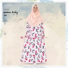 Gamis Zizara Naima Dress A01 - Baju Muslim Wanita Baju Muslimah