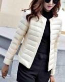 Diskon Gamiss Wanita Light Down Barang Baru Wanita 90 Bebek Putih Down Coat Disesuaikan Kerah Lengan Panjang Saku Single Breasted Solid Pakaian Luar Mantel Putih Intl Tiongkok