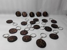 Gantungan Kunci Wayang Bulat Set 3pcs Asli Kerajinan Yogyakarta Keychain Handycraft