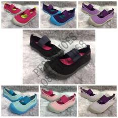 (Garansi Termurah) Sepatu Anak Cewek Crocs Duet Skimmer Kids Original - 8Cuiap