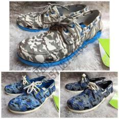 (Garansi Termurah) Sepatu Pria Crocs Beach Line Boat Army Original - Asqiq2