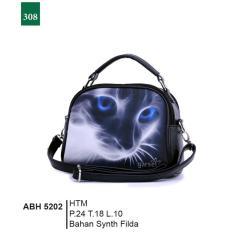 Garsel Fashion Abh 5202 Tas Handbag Bisa Selempang Wanita-Synth Filda-Modis(Hitam)