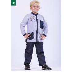 Harga Garsel Fashion Baju Setelan Muslim Anak Laki Laki Fwr 0748 Birkom Bahan Cotton Denim Lengkap