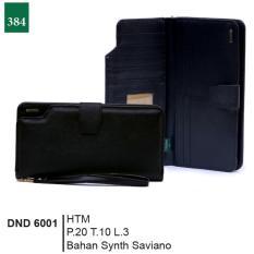 Garsel Fashion Dnd 6001 Dompet Kancing Wanita-Synth Saviano-Modis(Hitam)