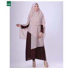 Garsel Fashion Dress Muslim / Gamis Syar'i Wanita FTW 0043 - CKLKOM Bahan Sifon