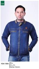 Garsel Fashion Fdh 1500 Jaket Jin Pria-Denim-Keren (biru)