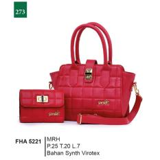 Spesifikasi Garsel Fashion Fha 5221 Tas Handbag Bisa Selempang Dompet Wanita Synth Virotex Menarik Merah Murah Berkualitas