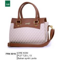 Garsel Fashion Frn 5016 Tas Handbag Bisa Selempang Wanita-Synth Lavito-Bagus(Cream Kombinasi)