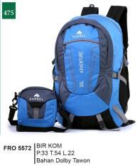 Garsel Fashion Fro 5572 Tas Ransel 2in1 Pria-Dolby Tawon-Bagus(Biru Kombinasi)
