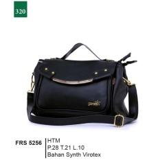 Garsel Fashion Frs 5256 Tas Handbag Bisa Selempang Wanita Synth Virotex Keren Hitam Asli