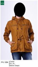 Garsel Fashion Fyl 1254 Jacket Parka Wanita-Despo-Keren (coklat)