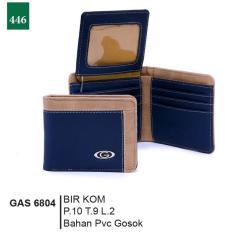 Review Garsel Fashion Gas 6804 Dompet Lipat Pria Pvc Gosok Modis Biru Kombinasi Garsel Fashion Di Jawa Barat