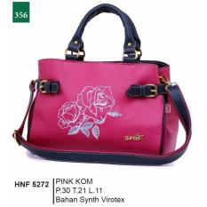 Jual Beli Online Garsel Fashion Hnf 5272 Tas Handbag Bisa Selempang Wanita Synth Virotex Modis Pink Kombinasi