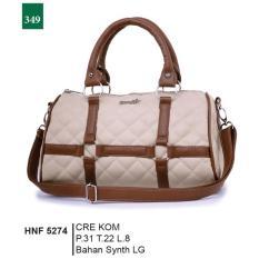 Garsel Fashion Hnf 5274 Tas Handbag Bisa Selempang Wanita-Synth Lg-Menarik(Cream Kombinasi)