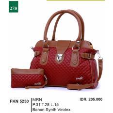 Garsel Fashion Tas Jinjing / Tas Bahu / Tas Selendang Wanita FKN 5230 - MRN Bahan Synth Virotex