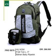 Garsel Fashion Tas Ransel / Gendong Pria FRO 5575 - HIJKOM Bahan Baby Ripstok